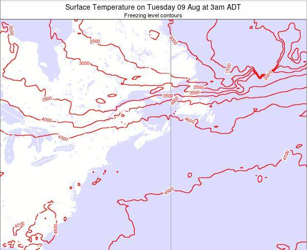 Nova-Scotia Surface Temperature on Sunday 26 May at 9am ADT