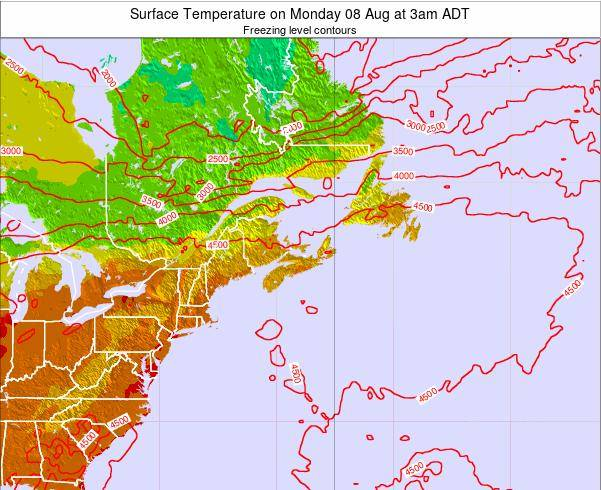 Nova-Scotia Surface Temperature on Tuesday 28 May at 9am ADT