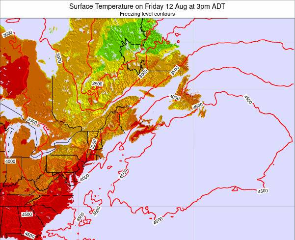 Nova-Scotia Surface Temperature on Friday 24 May at 9am ADT