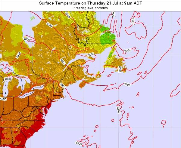 New-Brunswick Surface Temperature on Sunday 26 May at 3pm ADT map