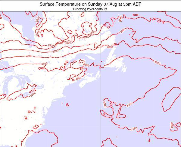 New-Brunswick Surface Temperature on Friday 24 May at 3am ADT map