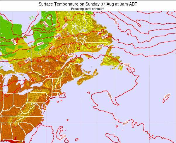 Nova-Scotia Surface Temperature on Thursday 23 May at 3pm ADT