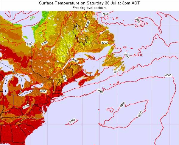 Nova-Scotia Surface Temperature on Sunday 26 May at 3pm ADT