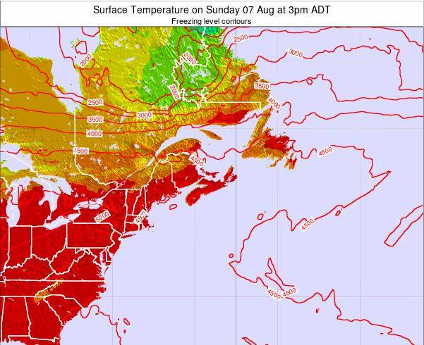 Nova-Scotia Surface Temperature on Tuesday 28 May at 3am ADT