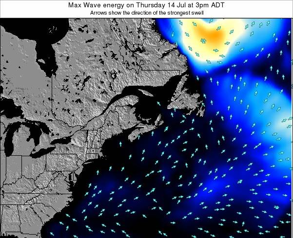Nova-Scotia Max Wave energy on Thursday 23 May at 3am ADT