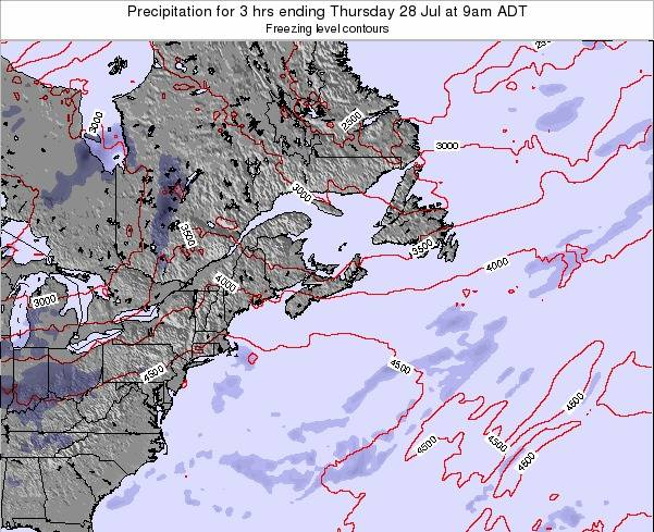 Nova-Scotia Precipitation for 3 hrs ending Wednesday 26 Oct at 3am ADT