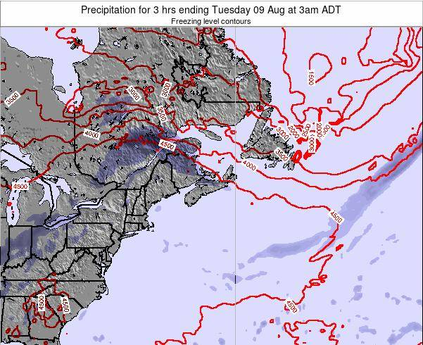 Nova-Scotia Precipitation for 3 hrs ending Sunday 15 Dec at 8am AST