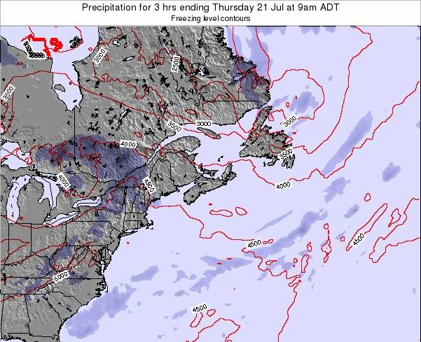 Nova-Scotia Precipitation for 3 hrs ending Thursday 13 Mar at 8am AST