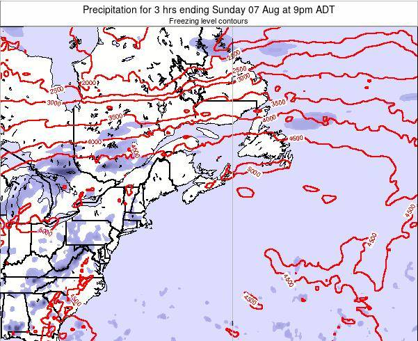 Nova-Scotia Precipitation for 3 hrs ending Sunday 27 Jul at 9am ADT