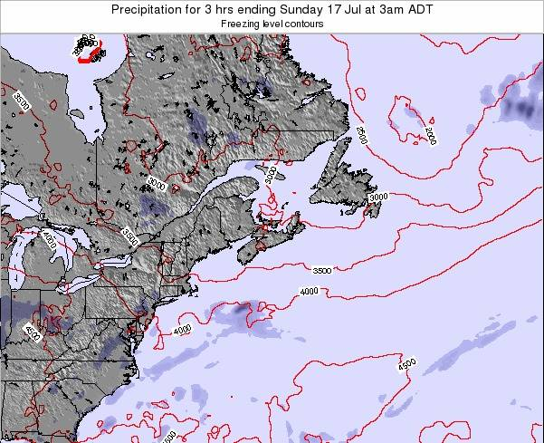 Nova-Scotia Precipitation for 3 hrs ending Thursday 23 May at 3am ADT