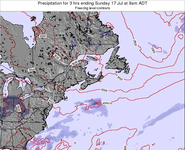 Nova-Scotia Precipitation for 3 hrs ending Monday 21 Apr at 3pm ADT