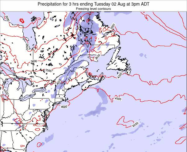 Nova-Scotia Precipitation for 3 hrs ending Thursday 24 Apr at 3am ADT