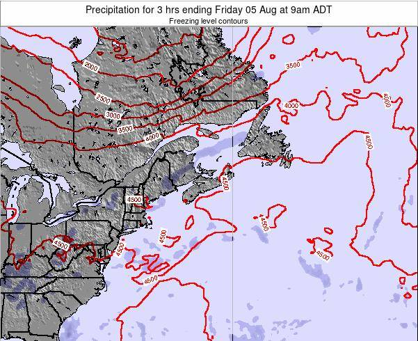 Nova-Scotia Precipitation for 3 hrs ending Tuesday 11 Mar at 3am ADT
