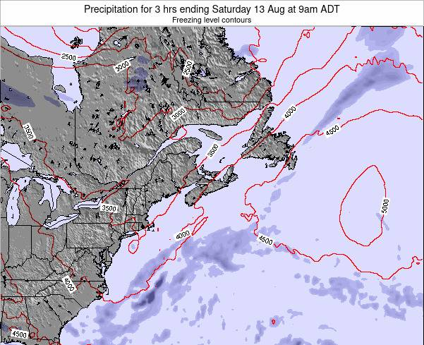 Nova-Scotia Precipitation for 3 hrs ending Monday 28 Apr at 9am ADT