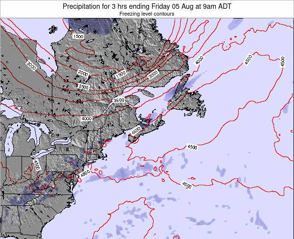 Nova-Scotia Precipitation for 3 hrs ending Wednesday 11 Mar at 2am AST