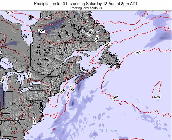 Nova-Scotia Precipitation for 3 hrs ending Friday 24 May at 3am ADT