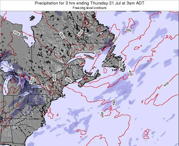 Nova-Scotia Precipitation for 3 hrs ending Friday 30 Jan at 8am AST