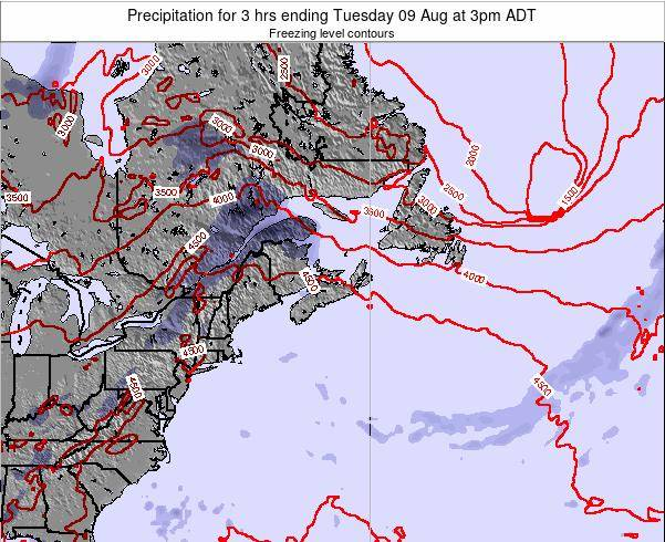 Nova-Scotia Precipitation for 3 hrs ending Tuesday 22 Apr at 9pm ADT