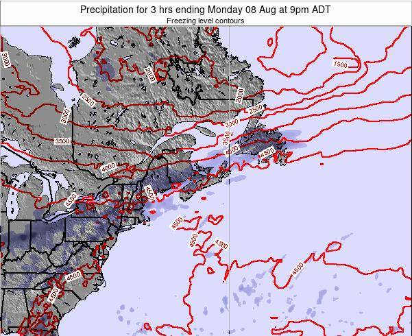 Nova-Scotia Precipitation for 3 hrs ending Sunday 27 Jul at 9pm ADT