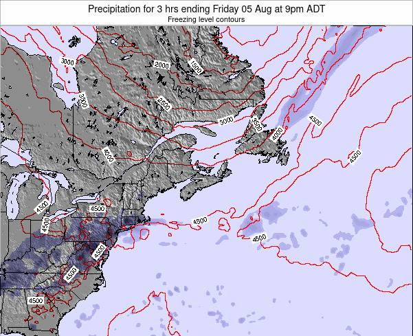 Nova-Scotia Precipitation for 3 hrs ending Wednesday 11 Dec at 2am AST