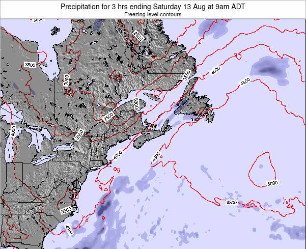 Nova-Scotia Precipitation for 3 hrs ending Monday 13 Jul at 9am ADT