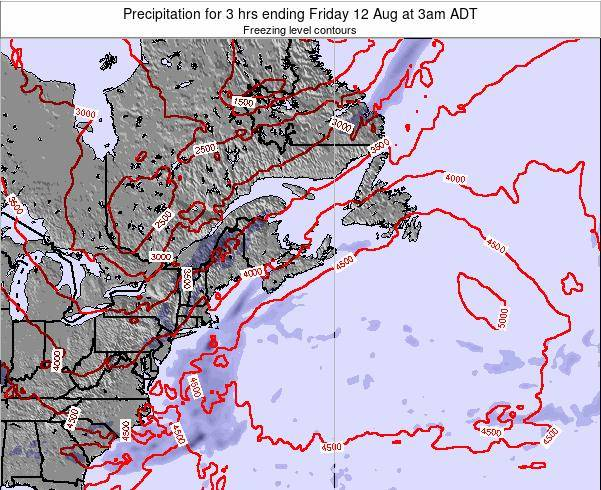Nova-Scotia Precipitation for 3 hrs ending Thursday 24 Aug at 9am ADT