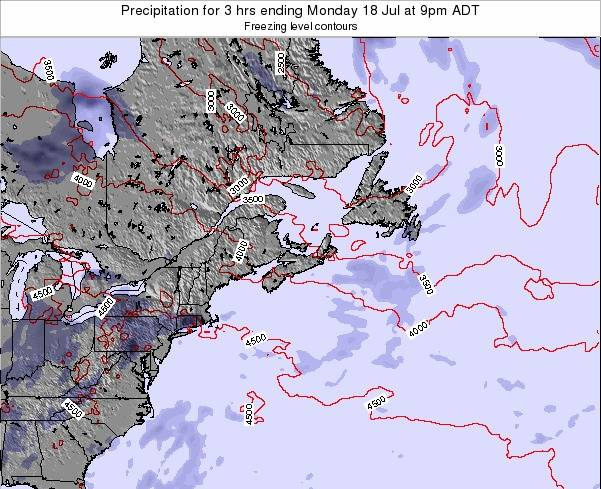 Nova-Scotia Precipitation for 3 hrs ending Tuesday 29 Apr at 3pm ADT