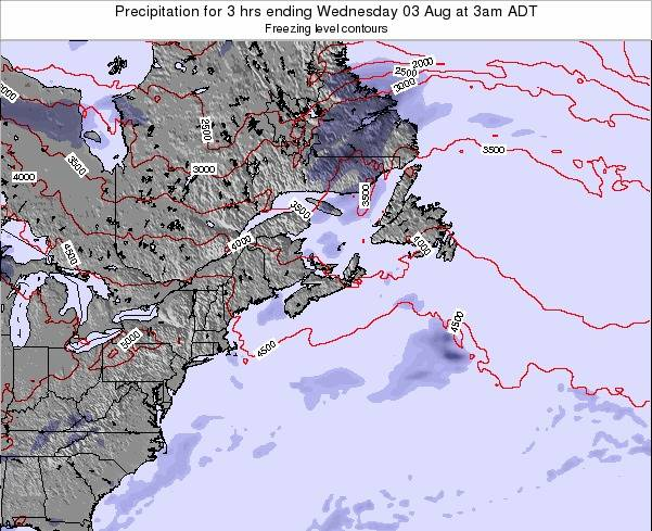 Nova-Scotia Precipitation for 3 hrs ending Monday 27 May at 3am ADT