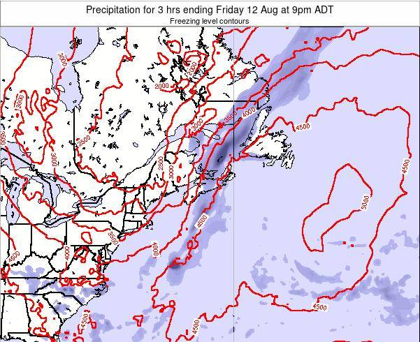 Nova-Scotia Precipitation for 3 hrs ending Sunday 30 Nov at 8am AST