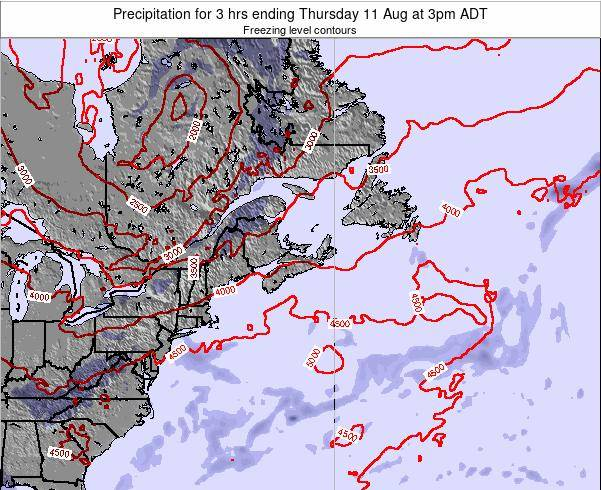 Nova-Scotia Precipitation for 3 hrs ending Saturday 04 Mar at 8pm AST