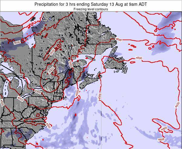 Nova-Scotia Precipitation for 3 hrs ending Tuesday 01 Dec at 2am AST