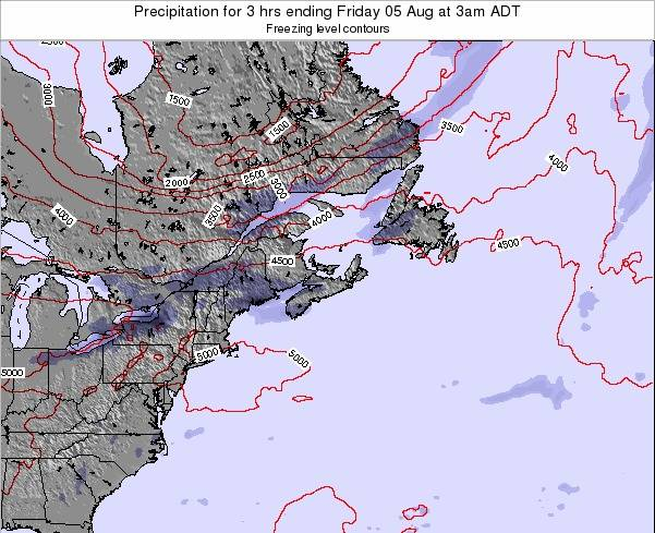 Nova-Scotia Precipitation for 3 hrs ending Sunday 16 Mar at 3am ADT
