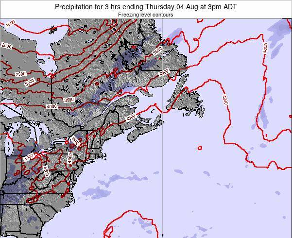 Nova-Scotia Precipitation for 3 hrs ending Sunday 09 Mar at 3am ADT