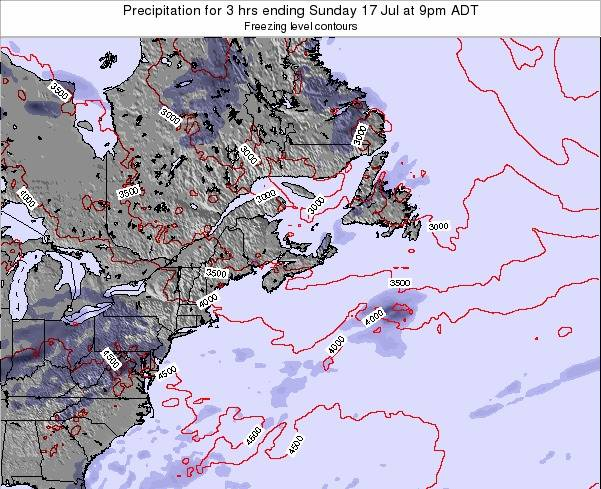 Nova-Scotia Precipitation for 3 hrs ending Tuesday 31 Mar at 3am ADT