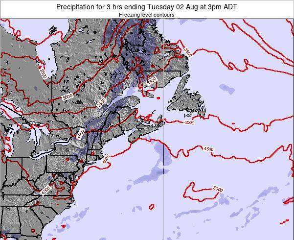 Nova-Scotia Precipitation for 3 hrs ending Friday 01 Aug at 9pm ADT