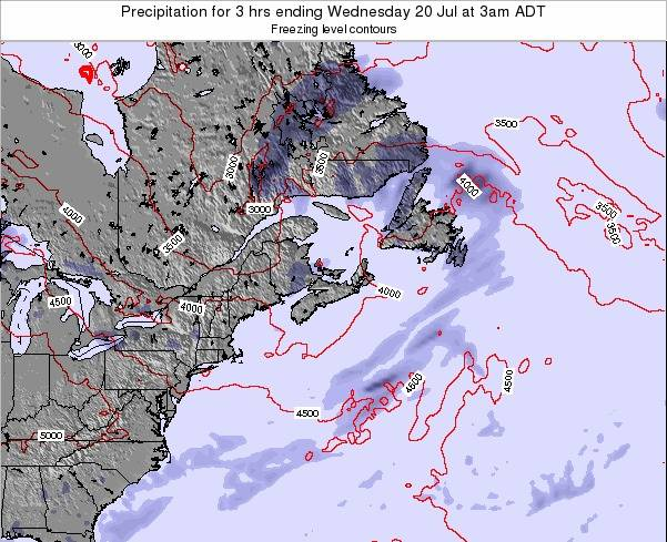 Nova-Scotia Precipitation for 3 hrs ending Wednesday 24 Dec at 2am AST