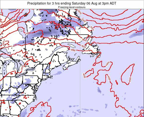 Nova-Scotia Precipitation for 3 hrs ending Wednesday 12 Mar at 9pm ADT
