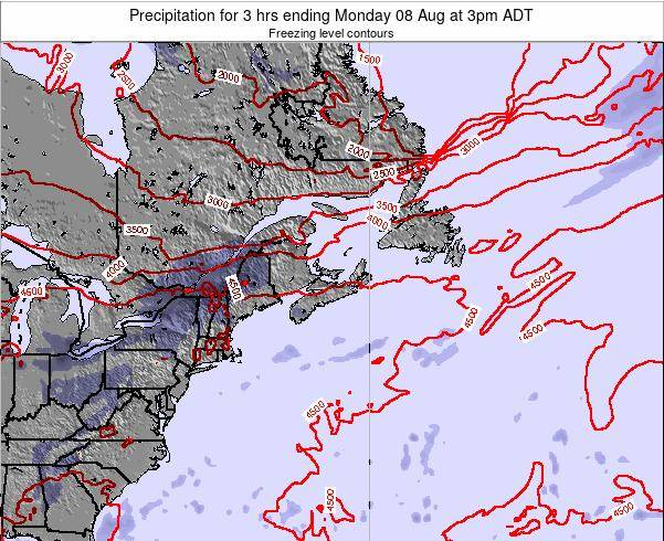 Nova-Scotia Precipitation for 3 hrs ending Sunday 27 Apr at 3pm ADT