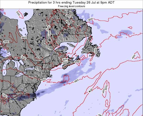 Nova-Scotia Precipitation for 3 hrs ending Wednesday 27 Jun at 9pm ADT map