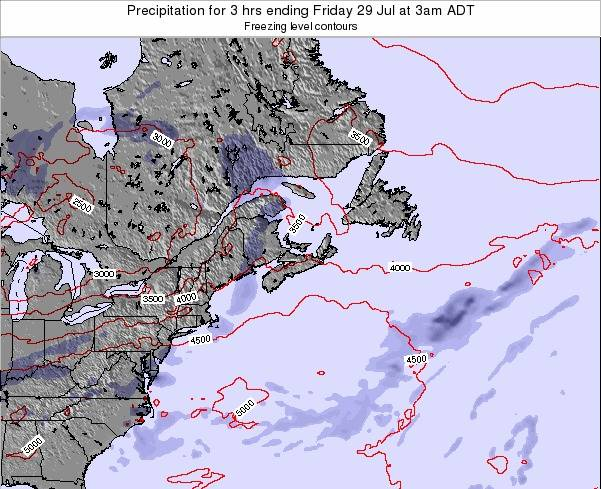 Nova-Scotia Precipitation for 3 hrs ending Thursday 23 May at 3pm ADT