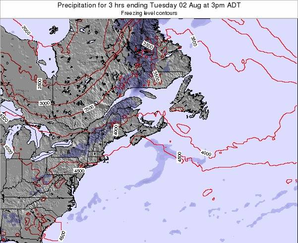Nova-Scotia Precipitation for 3 hrs ending Saturday 19 Apr at 9pm ADT