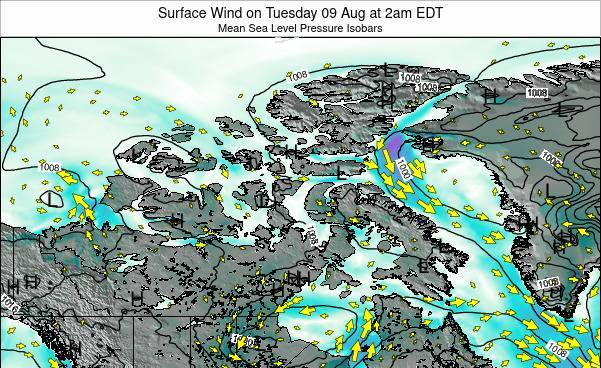 Nunavut Surface Wind on Friday 26 Apr at 8am EDT map