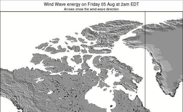 Nunavut Wind Wave energy on Friday 22 Mar at 2pm EDT map