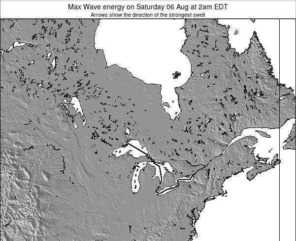 Ontario Max Wave energy on Friday 25 Jul at 2am EDT