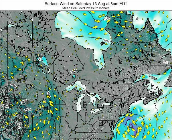 Ontario Surface Wind on Saturday 15 Mar at 2am EDT