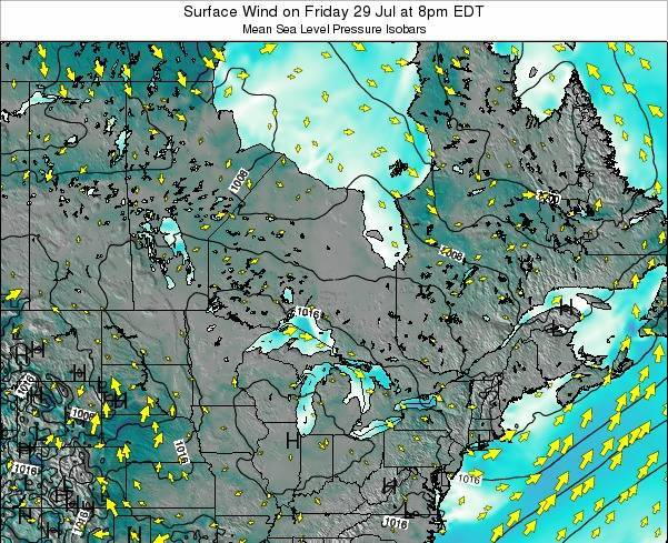 Ontario Surface Wind on Saturday 02 May at 2am EDT