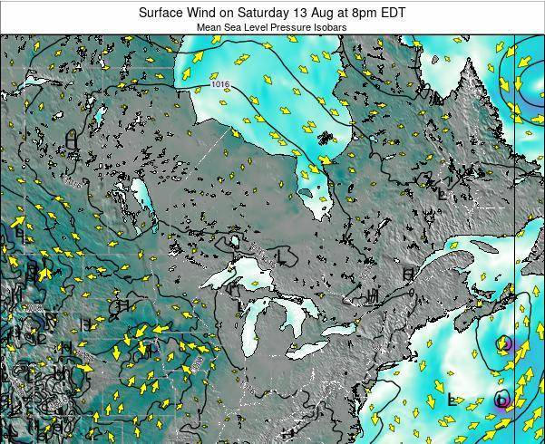 Ontario Surface Wind on Friday 24 May at 8pm EDT
