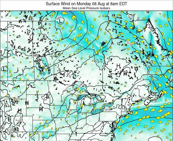 Ontario Surface Wind on Friday 18 Apr at 2pm EDT