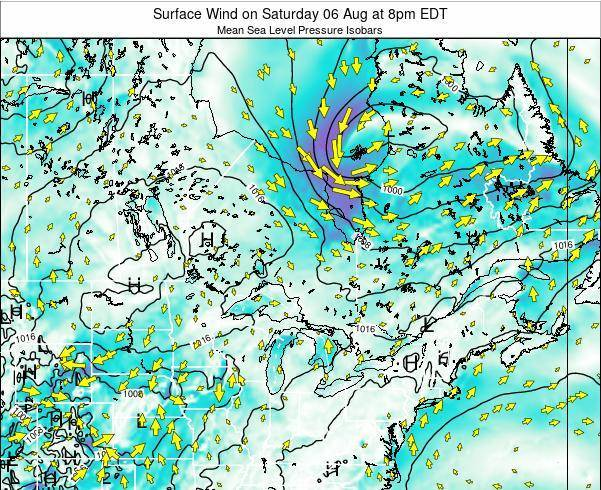 Ontario Surface Wind on Monday 21 Apr at 2pm EDT