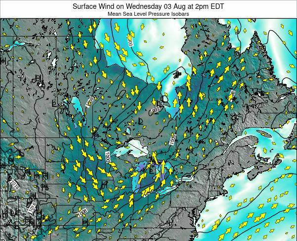 Ontario Surface Wind on Sunday 23 Jun at 8pm EDT